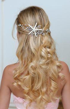 DESPOINA Starfish headband For Destination Wedding - beach wedding hair starfish accessories by TopGracia #topgraciawedding #bridalhairaccessories #weddingheadband