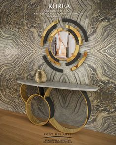 Korea Console & Mirror - Pont des Arts Studio - Designer Monzer Hammoud - Paris! #mirror #design #furniture See more at http://memoir.pt/