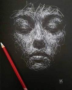 Likes, 102 Comments - Art Black And White Art Drawing, Black Paper Drawing, Black And White Portraits, Stylo Art, Chalk Pastel Art, Charcoal Art, Charcoal Drawings, White Charcoal, Scribble Art