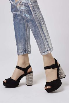 0f4f0e38c43c Finish your outfit off with an edge in these chunky two-part platforms.  Perfect