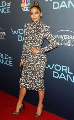 Every woman should invest in a leopard piece. Here Jennifer Lopez gave the LLD (little leopard dress) by Sergio Hudson a spin with Christian Louboutin pumps and a black clutch. - Leopard Dresses - Ideas of Leopard Dresses Animal Print Outfits, Animal Print Fashion, J Lo Fashion, Fashion Outfits, Womens Fashion, Cheap Fashion, Latest Fashion, Fashion Trends, Jennifer Lopez