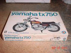 Vintage Yamaha 750 tx Motorcycle 1/25th Scale Big Bikes Series Entex 8471Y #Entex