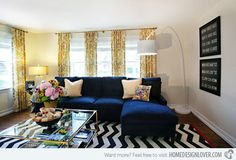 15 Lovely Living Room Designs with Blue Accents | Home Design Lover