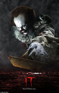 IT 2017 Movie Poster Stephen King Pennywise Art Fabric Poster Horror Movie Posters, Horror Icons, Horror Movies, Clown Pennywise, Pennywise The Dancing Clown, Arte Horror, Horror Art, A4 Poster, Poster Prints