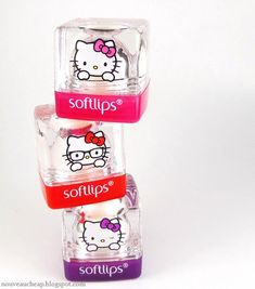 Softlips Cube Limited Edition Hello Kitty Collection (Apple, Strawberry Banana, and Passion Fruit) w/ SPF 15