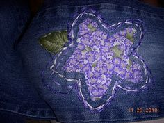 Hand-sewn patch for girls jeans