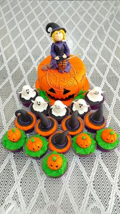 bolo-decorado-halloween Halloween Cake and cupcakes