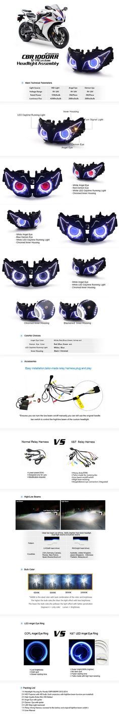 12-15 CBR 1000RR Projector HID Angel Eye Headlight - Xtreme Discount Cycle