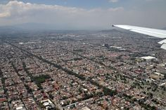 and the mother of them all...Mexico City (D.F.).  This is only one view.  This city goes on and on and on.... Monster!  There are roughly 20,500,000 people living in the former Tenochtitlan.  You'll believe it too.