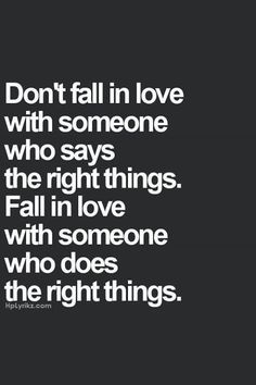 the right things.