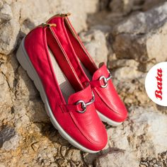 Get ready! The season of long summer walks is near. Bata Shoes, Comfy Shoes, Personal Stylist, Walks, Blues, Stylists, Loafers, Summer, Fashion