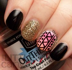 The Little Canvas: Tribal Accent Manicure
