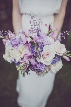 Summer purple bouquet from Green and Gorgeous Lavender Wedding Inspiration Purple Lilac Lavender Wedding Theme Purple Lilac Lavender Wedding Style Lavender Wedding Decor Purple Lilac Lavender Wedding Ideas Lavender Wedding Styling Purple Wedding Bouquets, Bride Bouquets, Bridal Flowers, Floral Wedding, Wedding Colors, Trendy Wedding, Wedding Summer, Boquet, Bridesmaid Bouquets