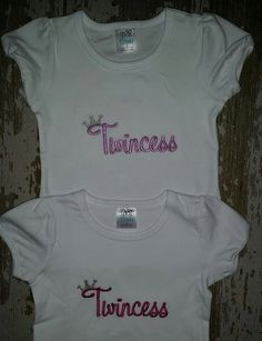 Twincess Embroidered Shirts (Two shirts)