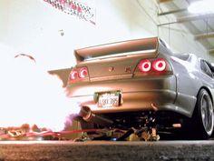 R33 GTR Backfire
