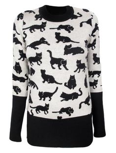 Kitty Print Knit  Haha hear is your second Christmas gift laine :-)