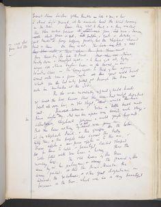 Nurse Lugton from Virginia Woolf's original manuscript of Mrs. Dalloway (2 of…
