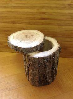 Diy Magazine Holder, Tree Stump Table, Tree House Decor, Light Up Tree, Rustic Country Kitchens, Tree Furniture, Decorated Jars, Easy Home Decor, Oak Tree