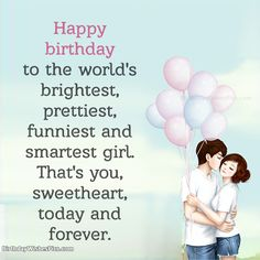 For a girlfriend, you should choose the wishes that best describe your relationship with her. Here we have collections of birthday wishes for girlfriend. Happy Birthday Quotes For Her, Birthday Quotes For Girlfriend, Romantic Birthday Wishes, Birthday Wishes For Girlfriend, Best Birthday Wishes, Girlfriend Quotes, Birthday Love, Birthday Letters, Birthday Greetings