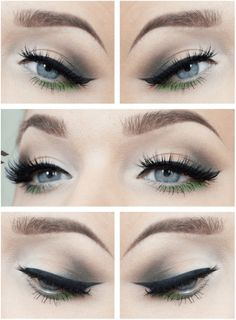 Gorgeous Green Eye Makeup | 7 Spring Makeup Looks To Inspire You, check it out at http://makeuptutorials.com/spring-makeup-looks-makeup-tutorials