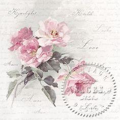 Wild Rose - Servietten 33x33 cm