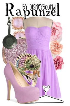 """""""Rapunzel"""" by leslieakay ❤ liked on Polyvore featuring Tacori, Anya Hindmarch, H&M, Disney, JustFabulous and disney"""