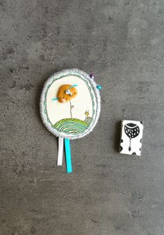 Hey, I found this really awesome Etsy listing at https://www.etsy.com/listing/225784364/fabric-brooch-with-fimo-bead-polymer