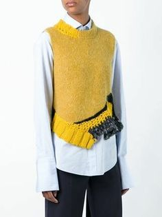 Knitwear Fashion, Knit Fashion, Look Fashion, Mens Fashion, Fashion Trends, Knitting Designs, Knitting Patterns, Diy Kleidung, Vest Pattern