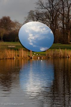 Anish Kapoor, 'Sky Mirror', 2006. Serpentine Gallery exhibition 'Turning the World Upside Down' in Kensington Gardens.