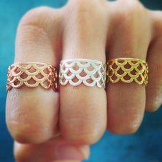 Mermaid Scale Ring, Mermaid Jewelry, Mermaids, Keani Jewelry, MerRing