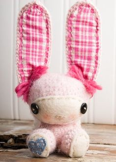 Pink Bunny (pipe cleaners used to stiffen ears)