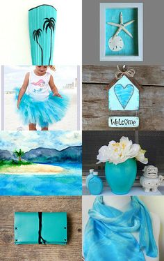 Summery Turquoise by Anne on Etsy--Pinned with TreasuryPin.com