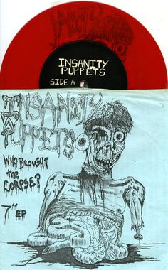 "INSANITY PUPPETS 1991 'WHO BROUGHT THE CORPSE?' PUNK HARDCORE 7"" RED VINYL NM  See all our Vinyl at Rock On Collectibles: http://stores.ebay.com/Rock-On-Collectibles/Vinyl-LPs-Singles-/_i.html?_fsub=7421951&_sid=70220124&_trksid=p4634.c0.m322"