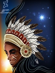 Rei Congo by OradiaNCPorciuncula on DeviantArt Native American Paintings, Native American Art, Goid Night, Orishas Yoruba, 7 Arts, Black Artwork, Black Women Art, Native Art, Deviantart