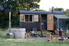 A weekend adventure in Dorset with Plankbridge and Farmstead Glamping Bungalows, Glamping, Garden Huts, Farmhouse Shutters, Bothy, Shepherds Hut, Cabin Homes, Outdoor Living, Outdoor Decor