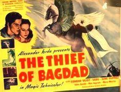 SEEN 2/3/16 FANTASTIC! The Thief of Bagdad. UK. Conrad Veidt, Sabu, John Justin June Duprez, Rex Ingram. Directed by Michael Powel, Ludwig Berger, Tim Whelan. 1940