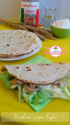 Piadine light all'acqua
