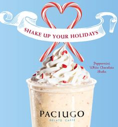Try Our New Peppermint White Chocolate Shake available for Holiday 2014!