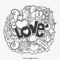 valentine background psd