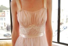 pretty soft and pink vintage nightgown