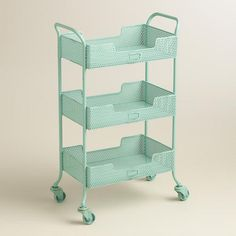 rolling carts for office. Blue Punched Metal Yvette Rolling Cart \u003e\u003e WorldMarket Laundry Organization Tips Carts For Office