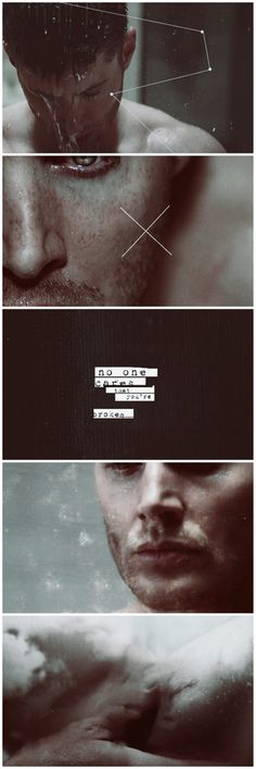 "9x18 Meta Fiction #SPN #Dean The voices in his head... ""Nobody cares that you're broken."""