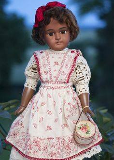 "24"" (62 cm)  Antique German brown-complexioned bisque doll, 1079, by Simon and Halbig"