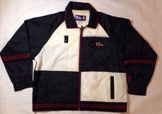 Vintage Pro Player Chicago Bulls Color Block Track Windbreaker Jacket Size Large   eBay