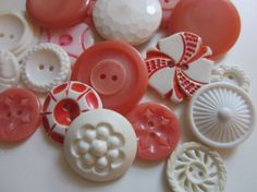 Vintage Buttons  Cottage chic mix of light by pillowtalkswf, $8.95