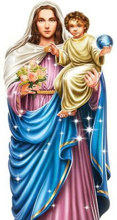 Mary Queen of Heaven and the Infant Jesus.