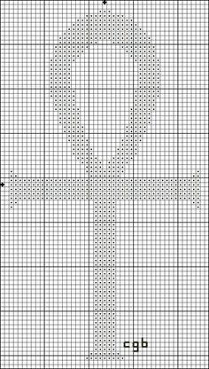Free Ancient Symbols Cross Stitch Charts: Free Small Ankh Cross Stitch Pattern