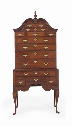 A QUEEN ANNE MAHOGANY HIGH CHEST-OF-DRAWERS