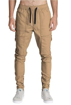 Tymhgt Men Chino Cargo Pants Athletic Fit Solid Casual Loose Pants
