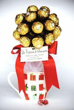La Cestería de Simoneta. Bouquet de bombones Ferrero Rocher.